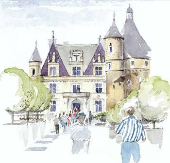 A large picture of Chateau Chenonceaux