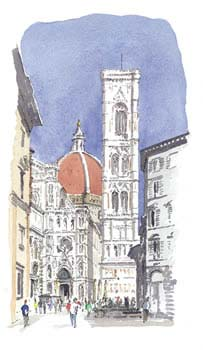 A large picture of Florence Duomo