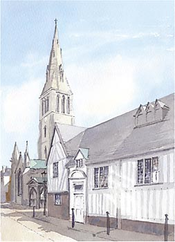 A large picture of Guildhall & Cathedral