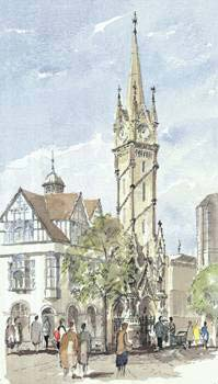 A large picture of Leicester Clock Tower