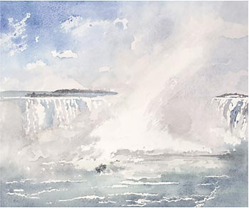 A large picture of Niagara Falls, Canada