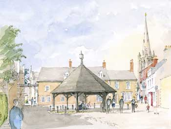 A large picture of Oakham Central Square