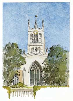 A large picture of St Mary's, Melton Mowbary