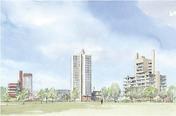 A large picture of University of Leicester Panorama from Park